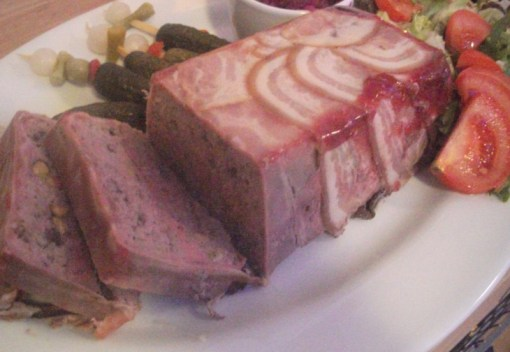 Pork, Cranberry and Pistachio Terrine