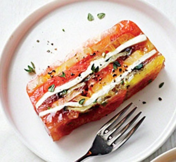Heirloom Tomato and Eggplant Terrine