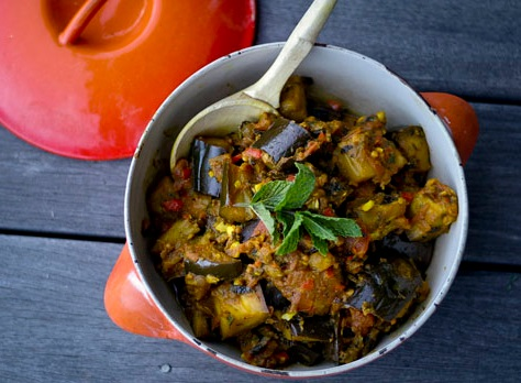 Eggplant Curry With Tamarind & Mint