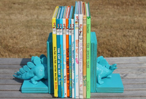 Toy Dinosaur Bookends