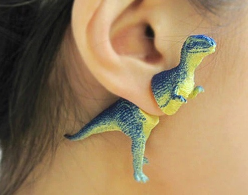 Toy Dinosaur Earrings