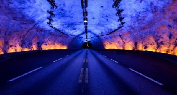 Laerdal Tunnel, Aurland