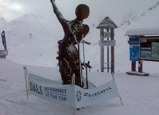 Ski Slope Surrealist Art