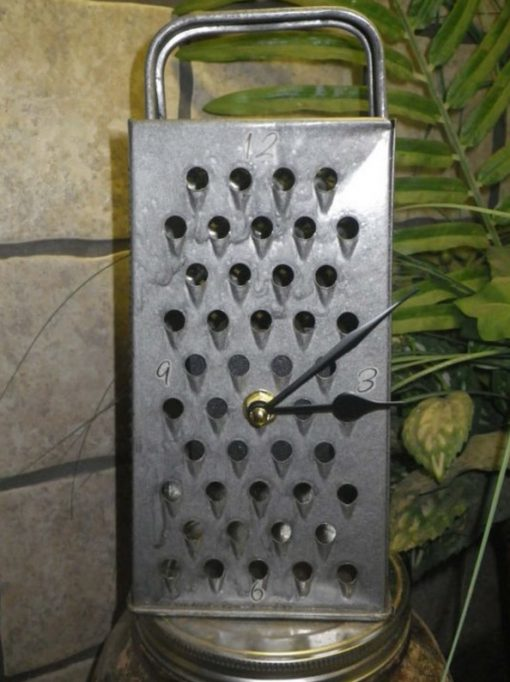 Cheese Grater Transformed Into a Clock