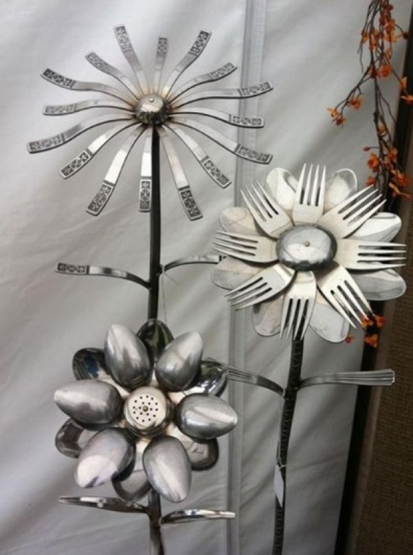 Cutlery Transformed Into Flowers