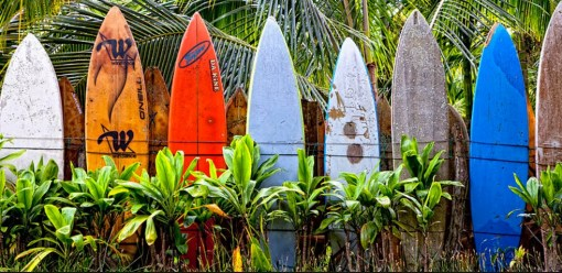Surfboard Used To Make A Fence