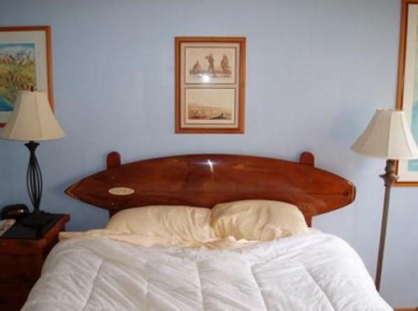Surfboard Used To a Headboard