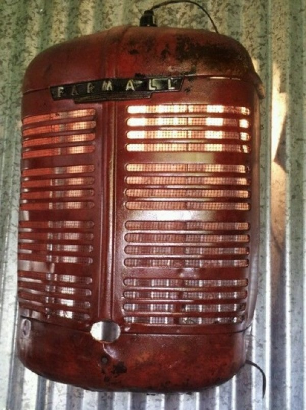 Tractor Grill Transformed Into a Wall Light