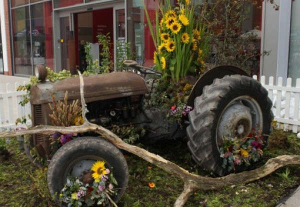 Tractor Transformed Into a Giant Planter
