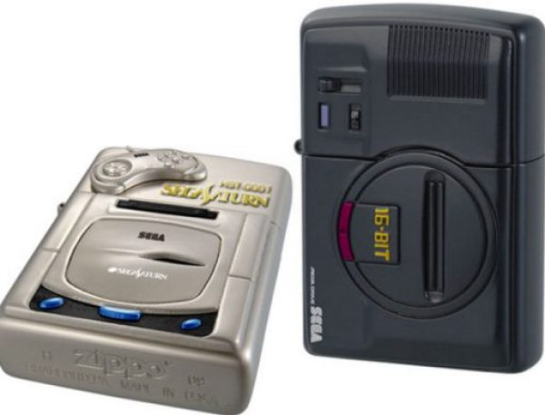 Sega Genesis / Megadrive & Saturn Zippo lighters