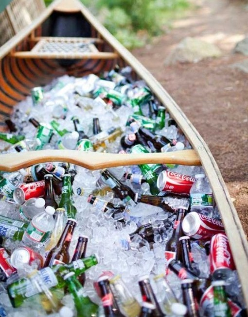 Rowing Boat Transformed Into an Ice Cooler