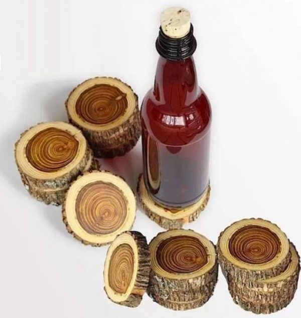 Twigs and Branches Transformed Into Drink Coasters