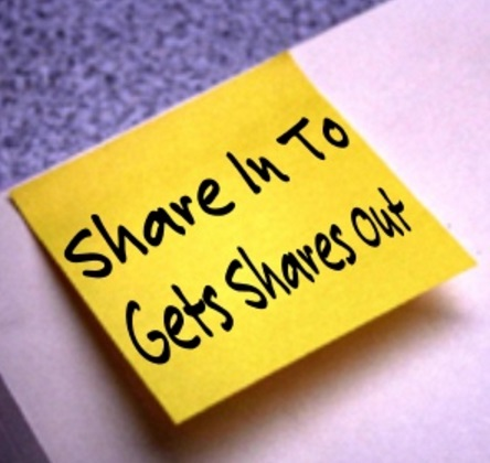 Share In To Gets Shares Out