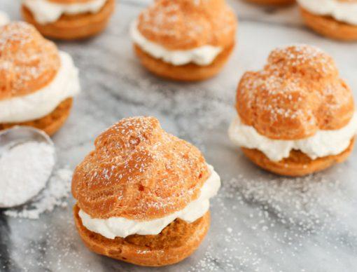 Pumpkin Pie Cream Puffs