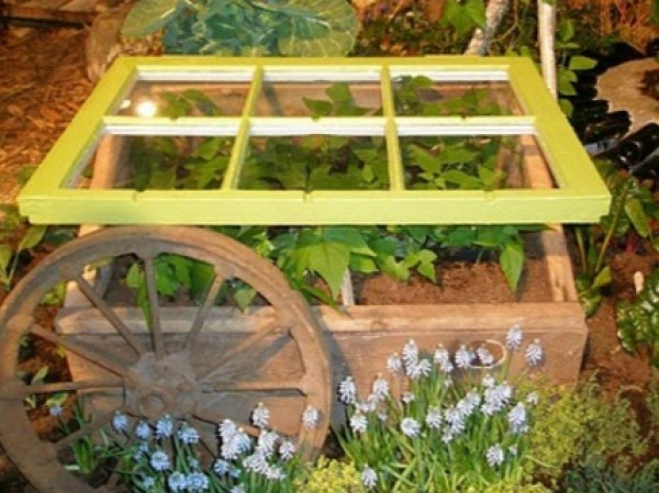 Old Windows Transformed Into a Strawberry Box