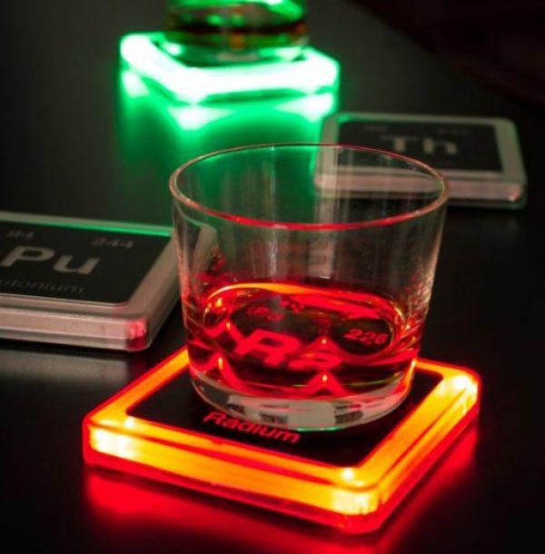 Glowing Radioactive Elements Drink Coasters