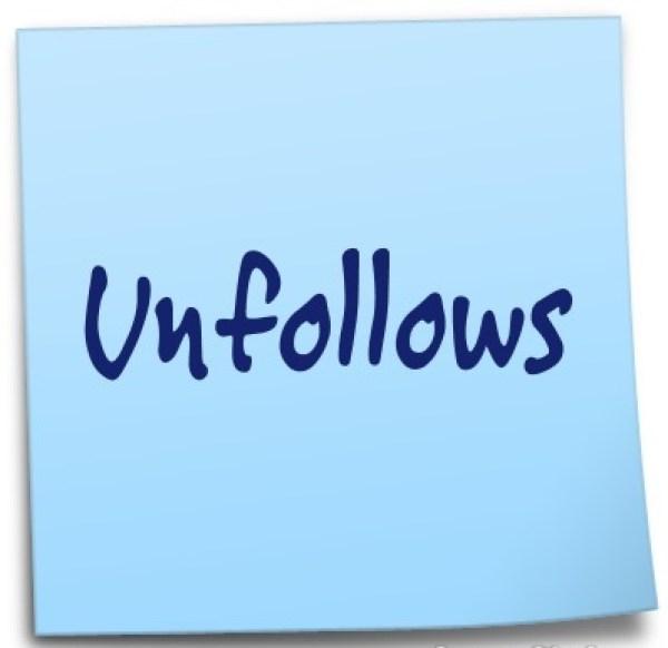 Unfollows