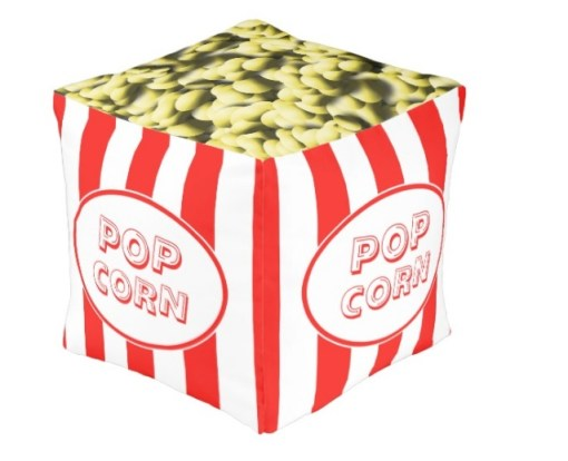 Popcorn Box Themed Pouffe