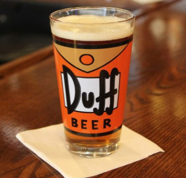 Duff Beer, Beer and Pint Glass