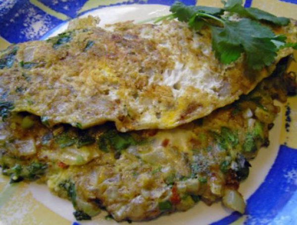 Indian Spiced Omelet