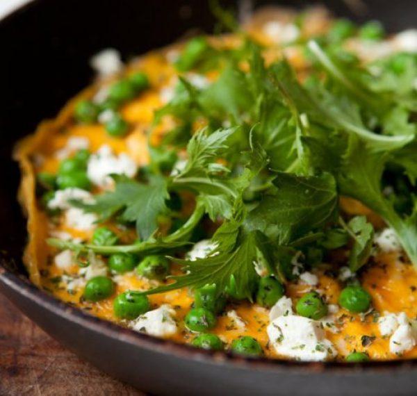 Minted Pea and Feta Omelette