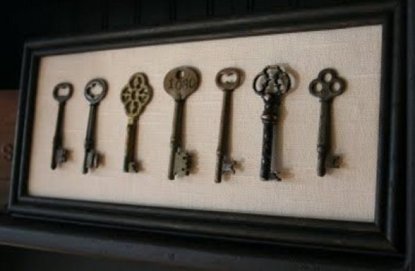Old Keys Transformed Into a Work of Art