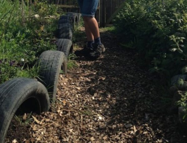 Car Tyres Transformed Into Garden Edging