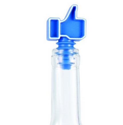 "Facebook ""Like"" Wine Bottle Stoppers"