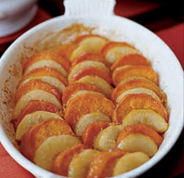 Sweet Potato and Pear Gratin