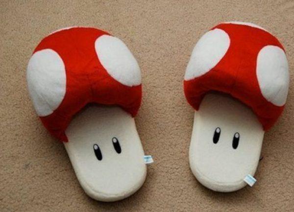 Novelty Super Mario Mushroom Slippers