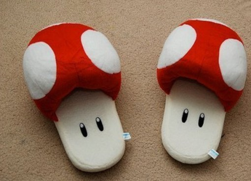 Novelty Super Mario Mushroom Slippers