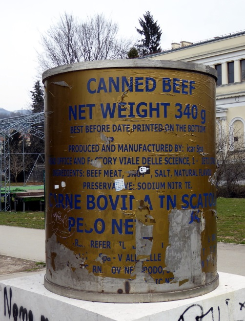 Canned Beef Monument, Sarajevo