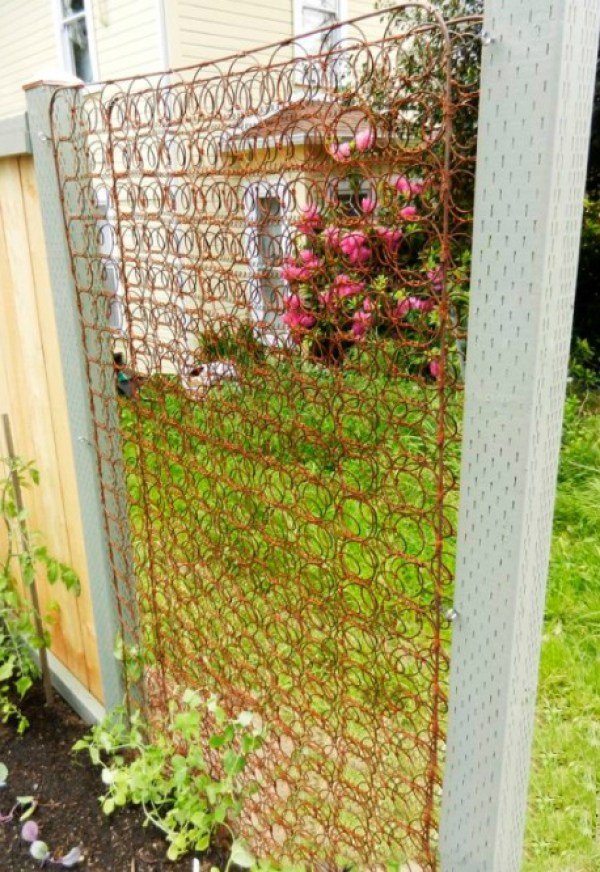 Bed Frame Used to Make a Garden Trellis