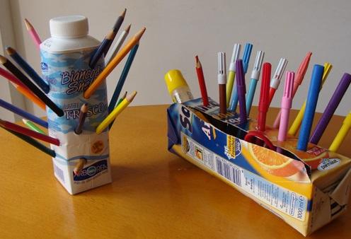 Juice Carton Pencil Organiser