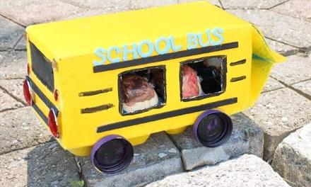 Juice Carton School Bus