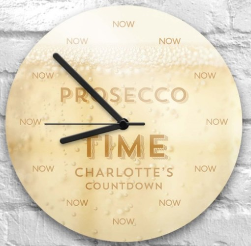 Prosecco Wall Clock