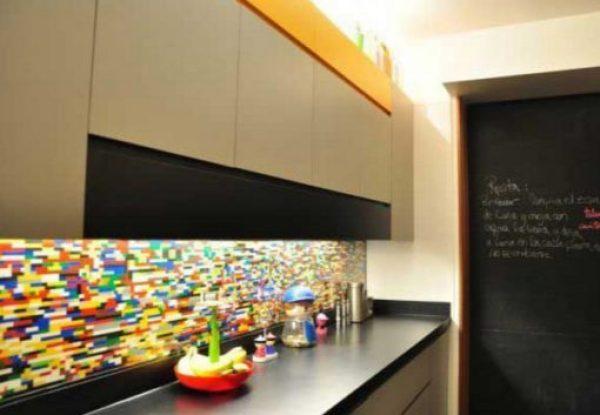 Kitchen Splash Back Made With Lego