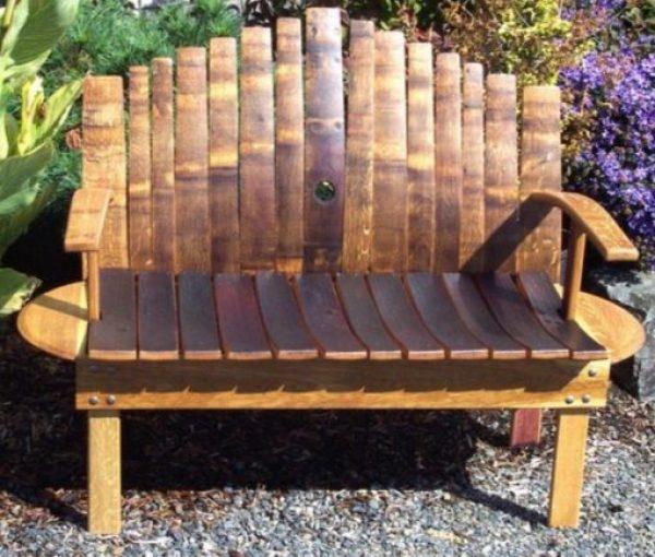 Wine-Barrel repurposed as a bench