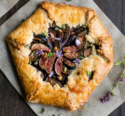Caramelized Onion and Fig Galette With Goat Cheese