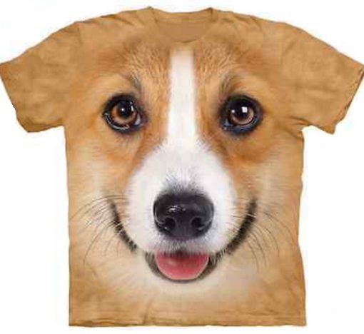 3D Corgi Face T-shirt