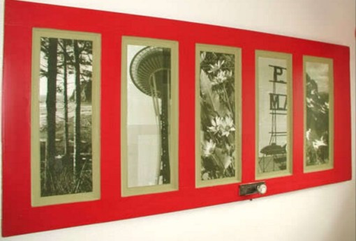 Door Repurposed Into an Photo Frame