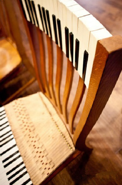 Piano Keys Used To Make Chair