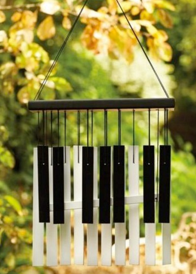 Piano Keys Used To Make Wind Chime