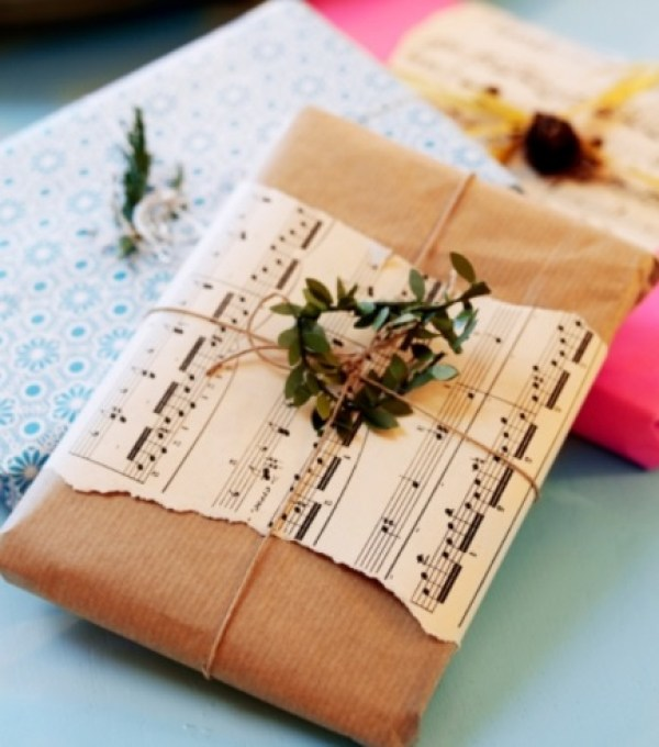 Gift Wrapped in Music Paper