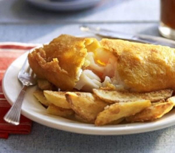 Golden Beer-Battered Fish & chips
