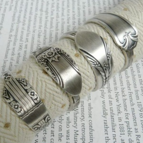 Cutlery Turned into Napkin Rings