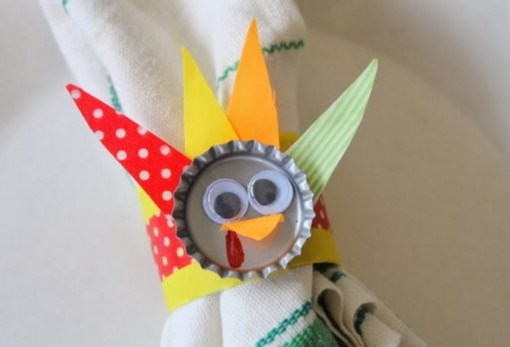 Bottle Cap Turned into Napkin Rings