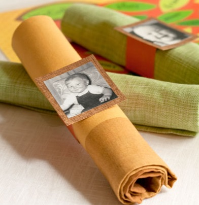 Photos Turned into Napkin Rings