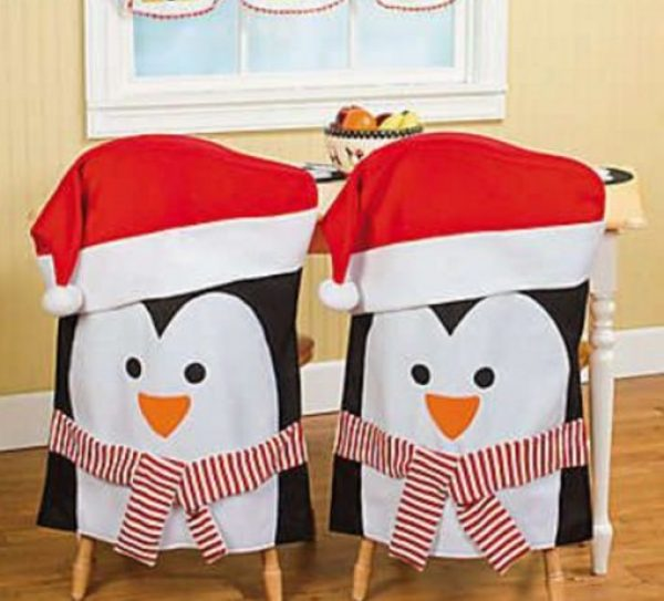 Penguins Dining Chair Slipcovers