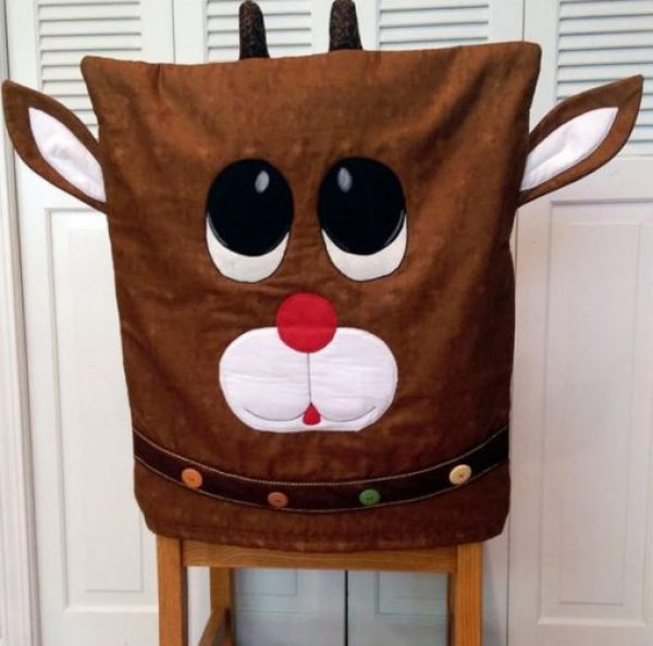 Rudolph the Red-Nosed Reindeer Dining Chair Slipcovers